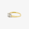 Jordans Jewellers 18ct gold three stone princess cut diamond ring - Alternate shot 1