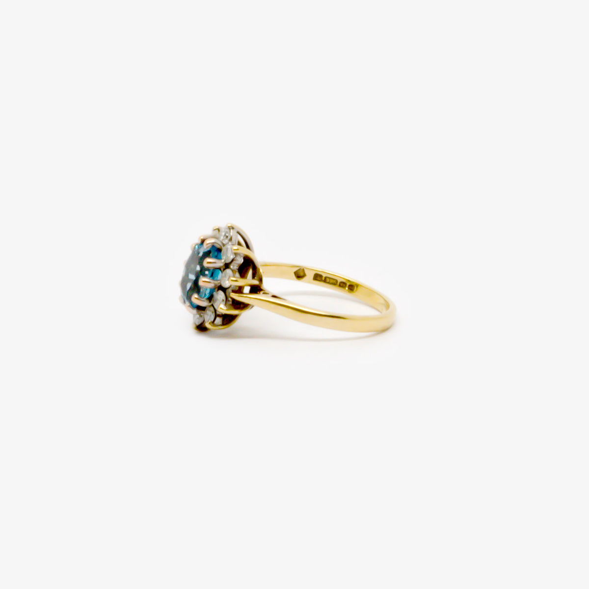 Topaz & Diamond Cluster Ring