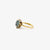 Jordans Jewellers 9ct gold pre-owned topaz and diamond cluster ring