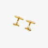 Jordans Jewellers 9ct yellow gold diamond set wavy cufflinks - Alternate shot 1 - Alternate shot 2