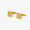 Jordans Jewellers 9ct yellow gold diamond set wavy cufflinks - Alternate shot 1