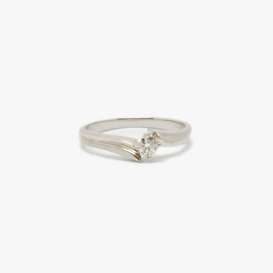 Jordans Jewellers 18ct white gold pre-owned 0.15ct diamond solitaire ring