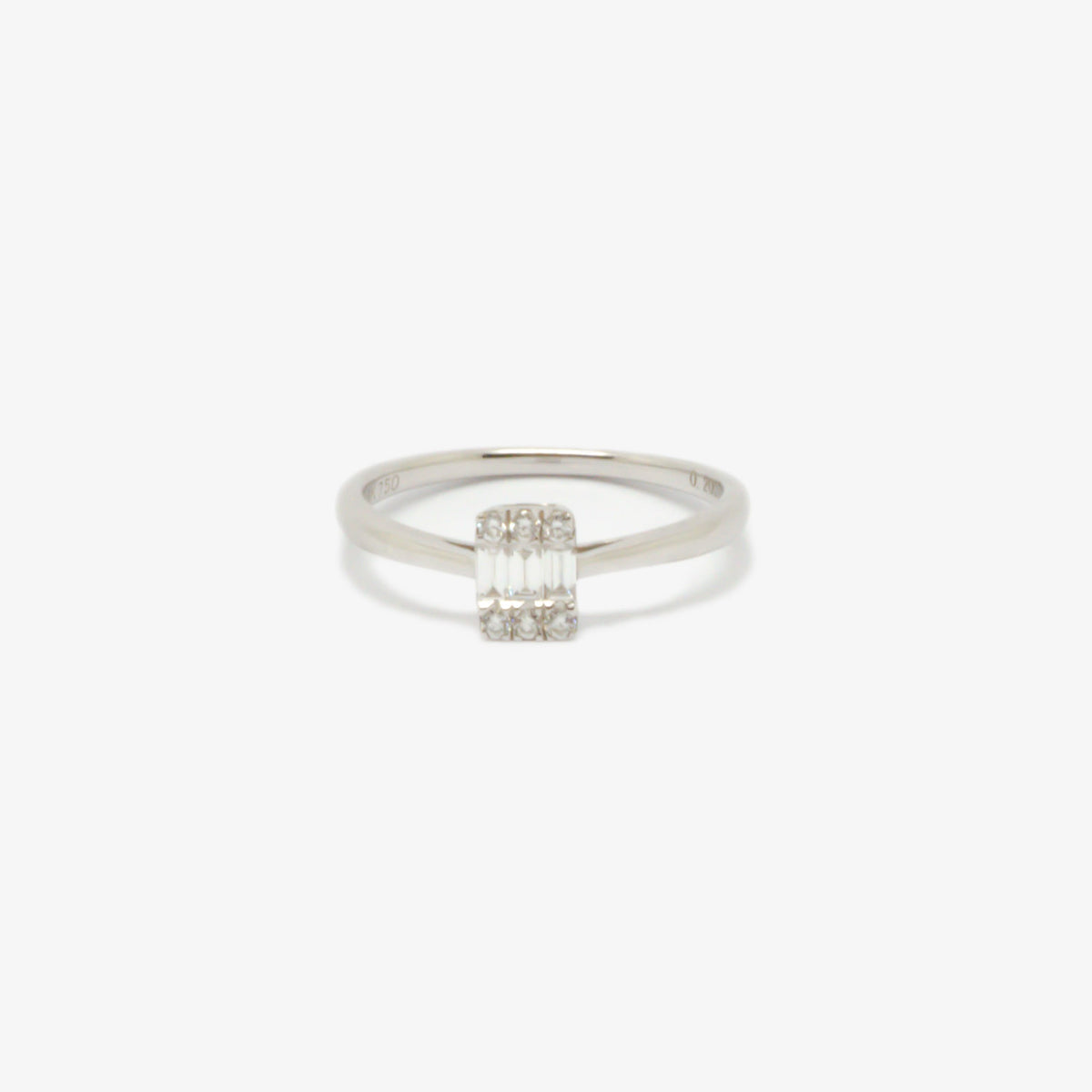 Illusion Set Baguette Diamond Ring