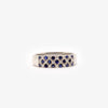 Jordans Jewellers wide three row 18ct white gold sapphire and diamond ring