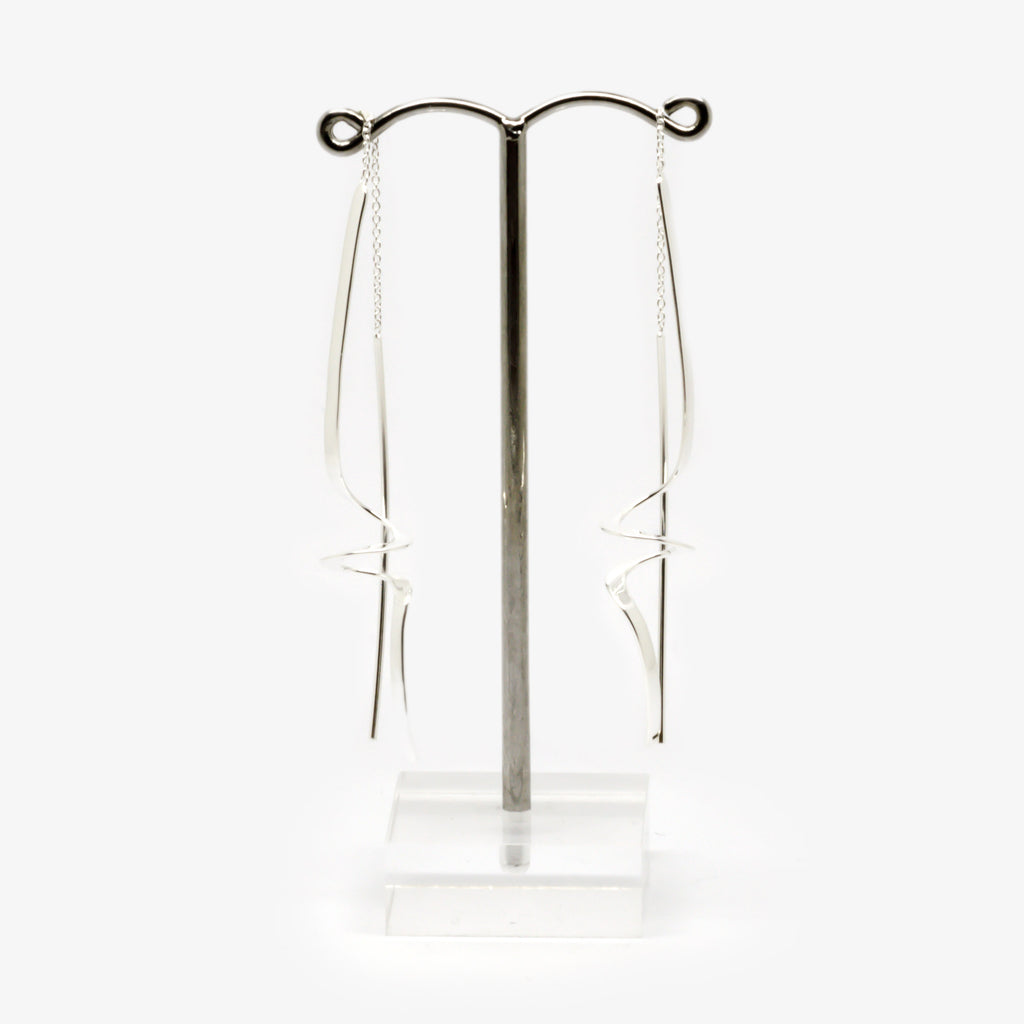 Jordans Jewellers silver wiggle pull through earrings