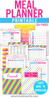 Get the best meal planning notebook with over 130 pages that will help you plan your family meals easily. This cute meal planning binder printable includes daily, weekly, and monthly menu template, pantry, fridge & freezer inventory, Recipe cards & family favorite planner, dinner menu ideas, grocery list, shopping list, binder covers, pantry labels, & more #mealplanningbinder #printable #menuplanner #whatsfordinner #menuideas #printables #bindercover #printable #binder #mealplanner #recipe