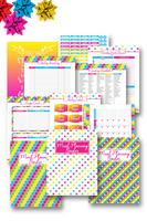 "Cute and complete meal planning binder pdf to help you save time, money and easily plan healthy family meals. You no longer have to ask ""what's for dinner with this 130+ page meal planner printable"