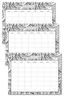 This undated monthly coloring calendar is a great tool you can use to set your monthly goals so you know what you need to do each day, week, and month. You can use this monthly calendar to write down any tasks, projects, appointments, and much more. You get Monday to Sunday template and Sunday to Saturday template.
