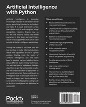 Charger l'image dans la galerie, Artificial Intelligence with Python: A Comprehensive Guide to Building Intelligent Apps for Python Beginners and Developers