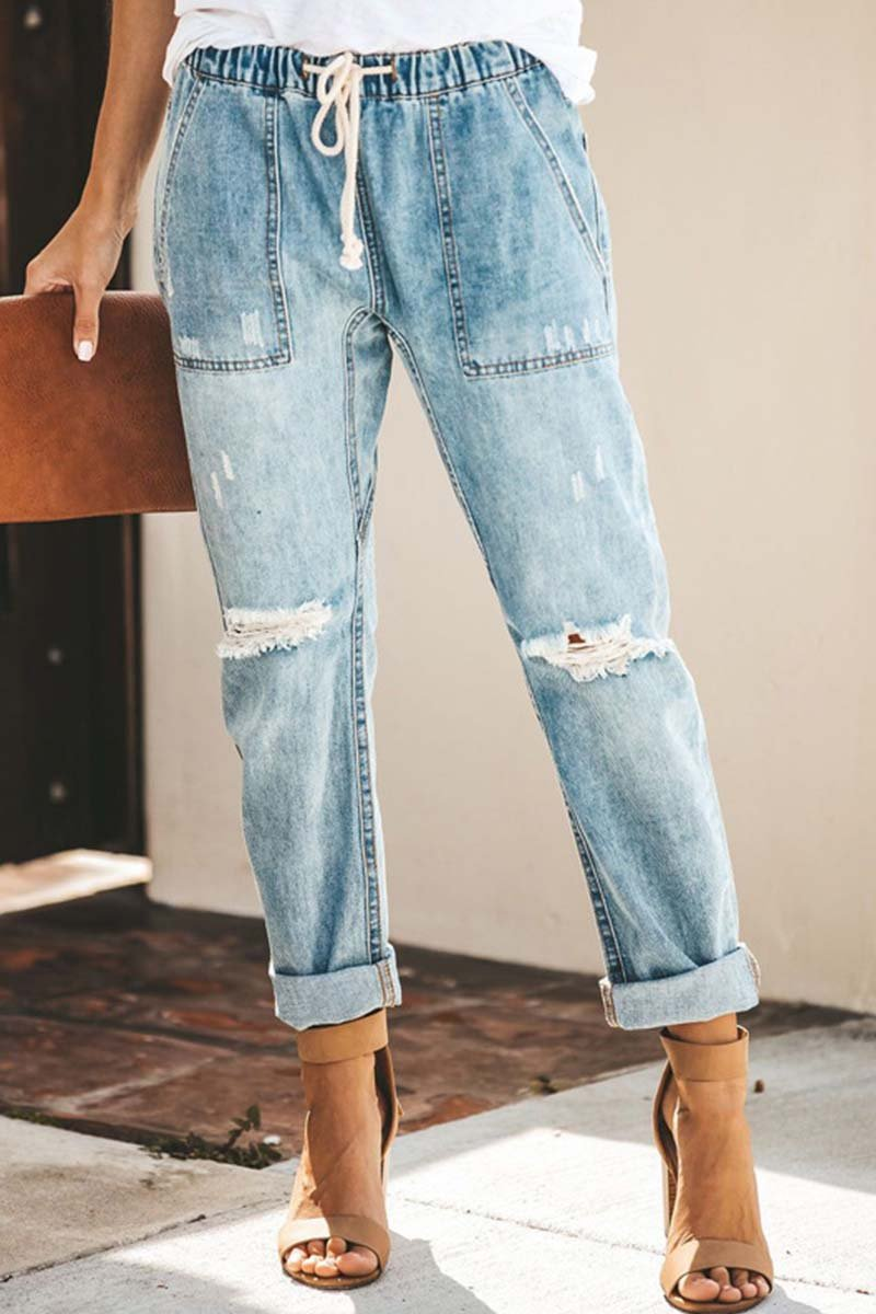 Borical Women's Ripped Jeans