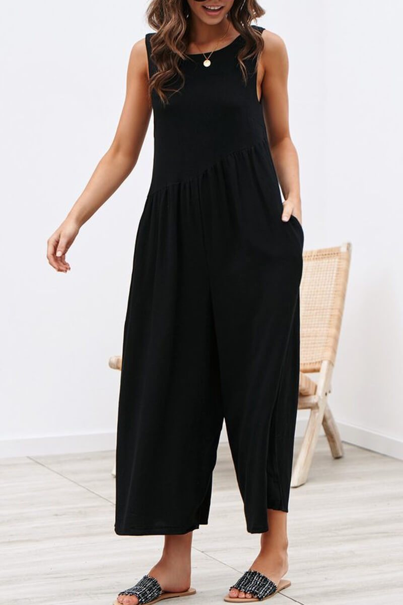 Borical Casual Vest Jumpsuit (4 Colors)