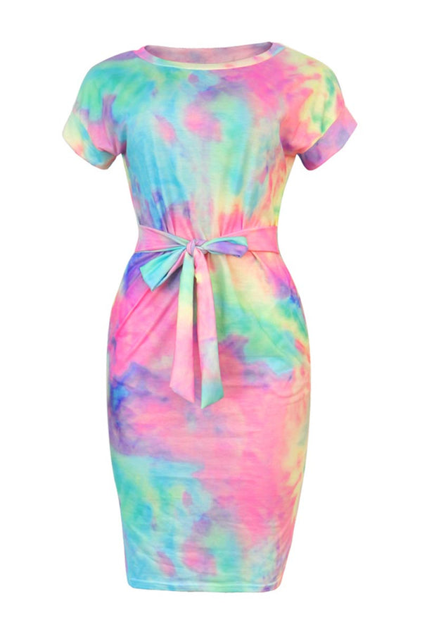 Borical Colorful Design Midi Dress