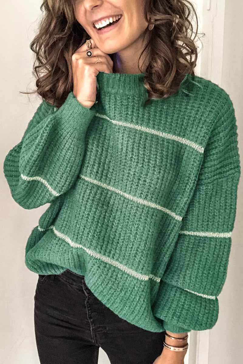 Borical Casual Striped Loose Sweater