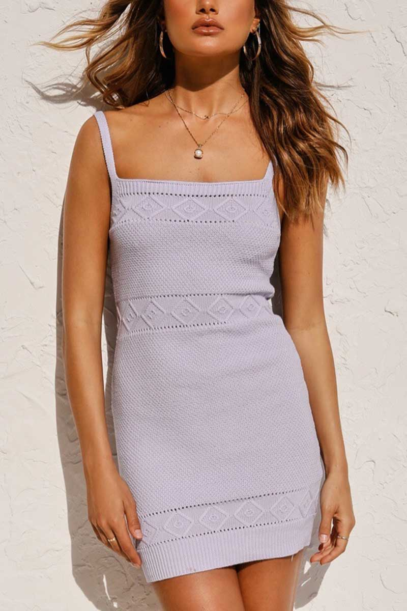 Borical  Knitted Sexy Cami Dress