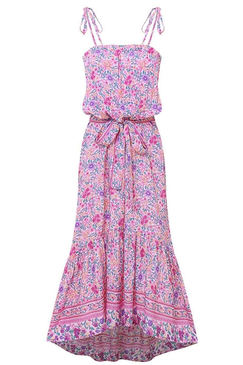 Borical Flower Print Midi Dress( 3 colors)