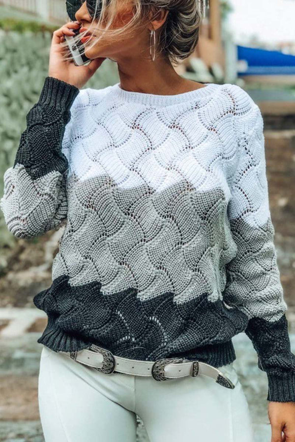 Borical O Neck Knit Sweaters