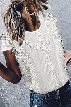 Lace White Blouse