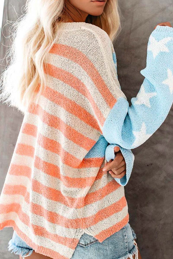 Borical Star Striped Knit Sweater
