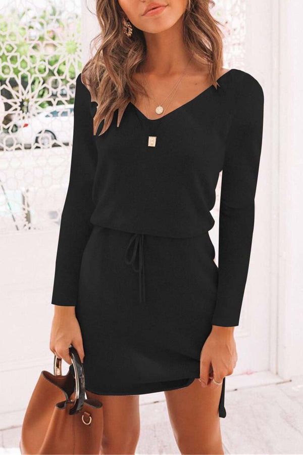 casual Black mini dress