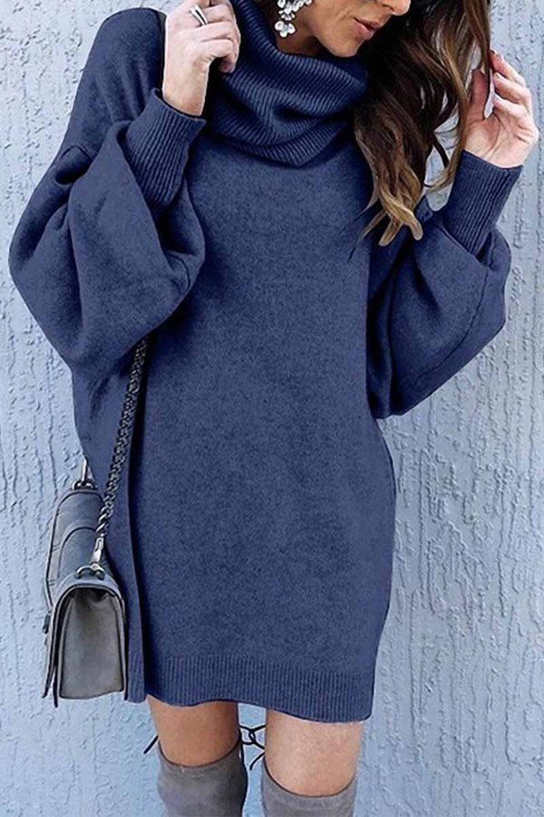 Dark Blue Loose Dress