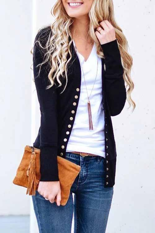 Long Sleeves Cardigan Tops