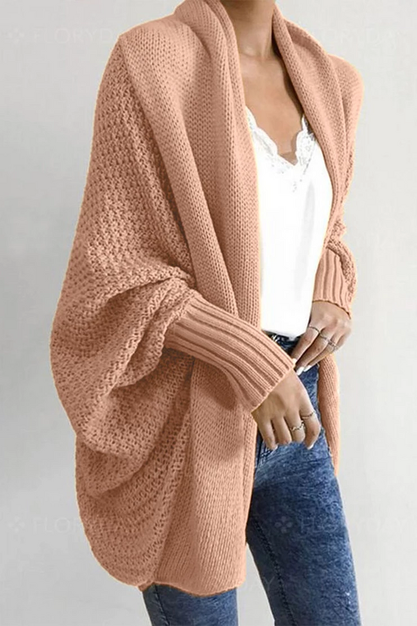 Borical Batwing Sleeve Sweater Cardigan (4 Colors)
