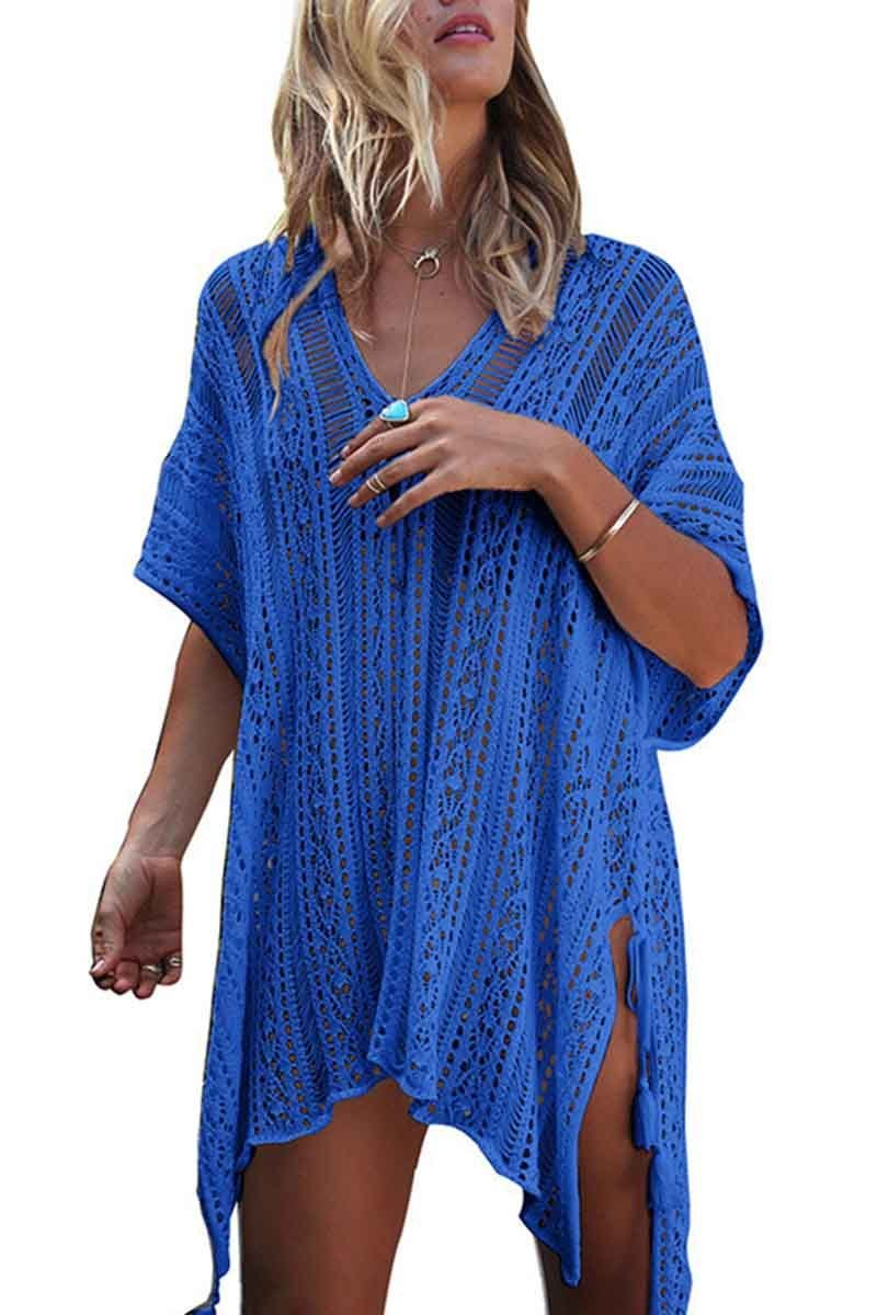 Borical Hollow Knitted Sunscreen Swimwear Cover-up
