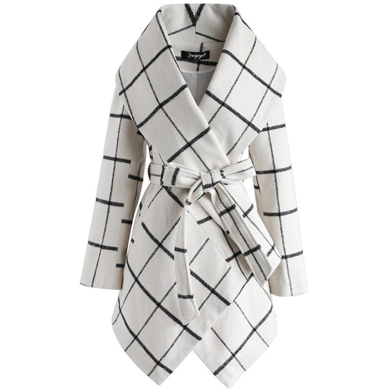 Borical Women's New Fashion Loose Check Coat (3 Colors)