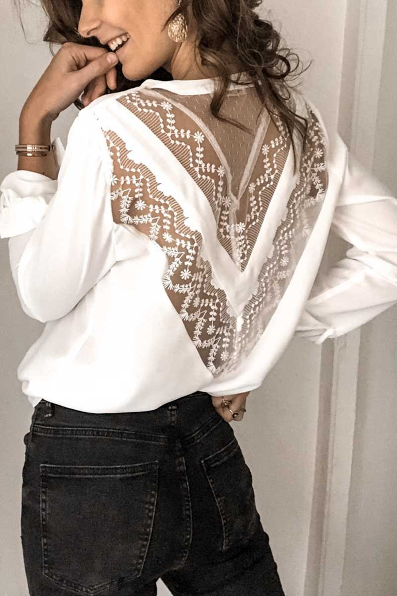Borical Sexy Lace Blouse