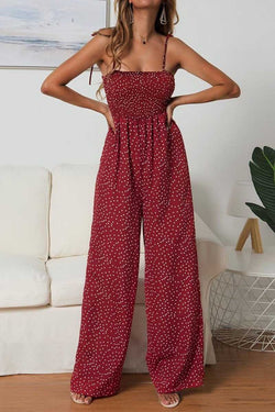 Borical Dots Printed Straight Jumpsuit