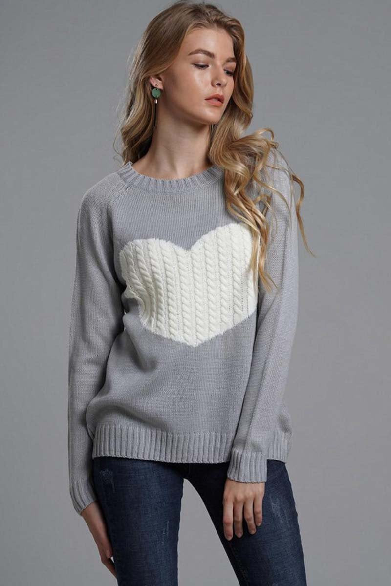 Borical Heart Shaped Sweater 2 Colors