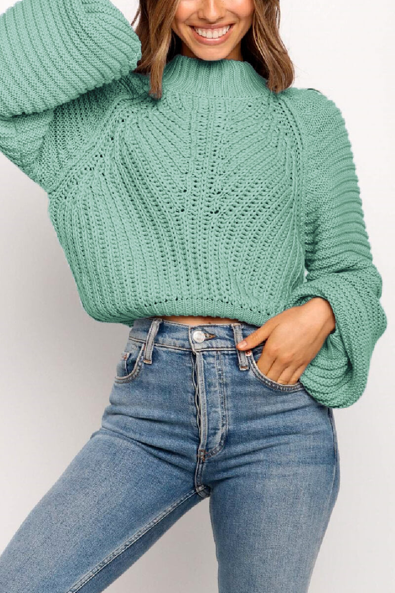 Borical Solid Color knitted Sweater(4 colors)