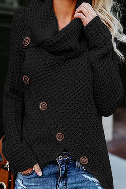 Borical Irregular Winter Shawl Sweater