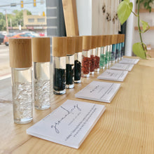 Load image into Gallery viewer, Crystal Infused Essential Oil Rollers