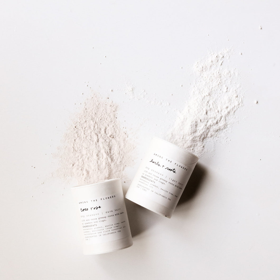 zero waste dry shampoo powder for dark or light hair