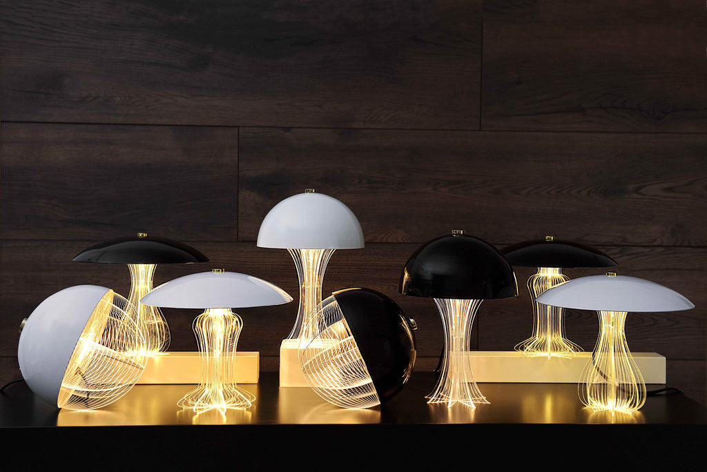 Oblò Nero table lamp