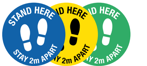 Floor marking stickers - Stand here