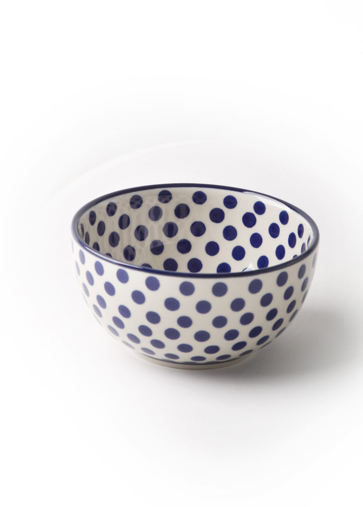 "Blue Dots - ""Japanese"" Bowl"