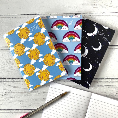 Pack of 3 A6 Notebooks