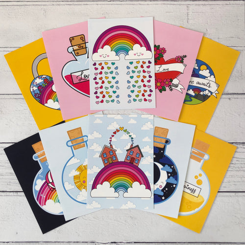 Happy Rainbow Collection Postcards Pack