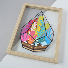 Load image into Gallery viewer, Rainbow Terrarium Original Papercut