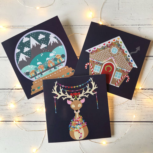 Pack of 6 Luxury Christmas Cards