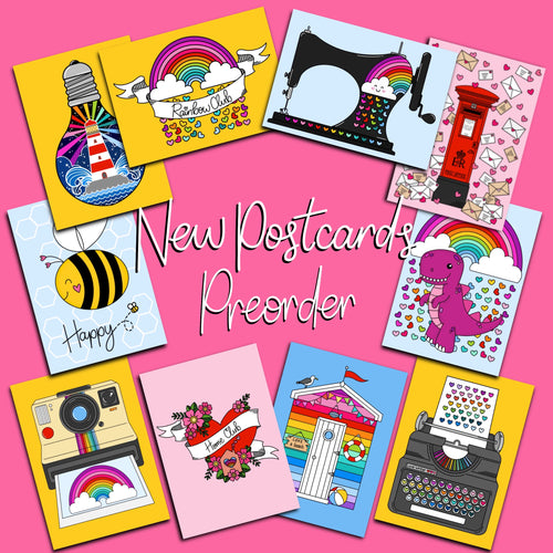 Rainbow Club Collection Postcards Pack