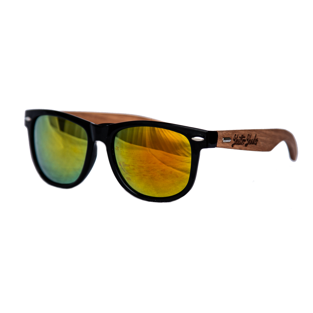 shuttergang shutter shades walnut wood gold