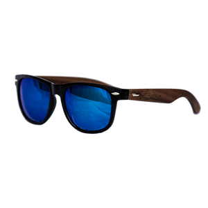 shuttergang shutter shades walnut wood ice blue polarized sunglasses