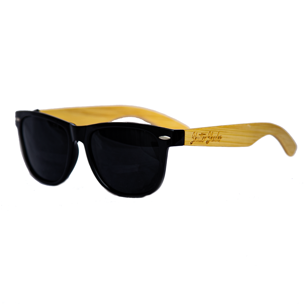 shuttergang shutter shades bamboo vintage polarized sunglasses