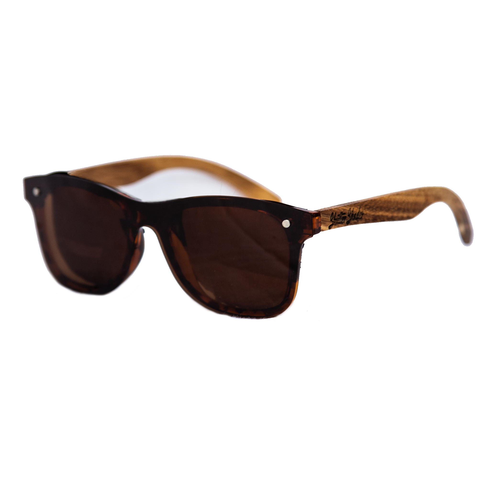 Brown Lens Zebrawood Sunglasses