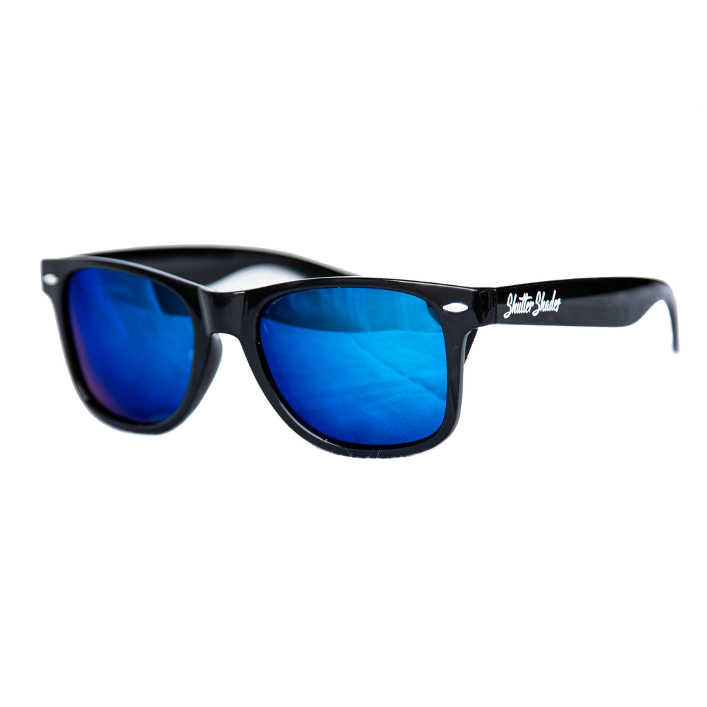 shuttergang shutter shades ice blue polarized plastic sunglasses