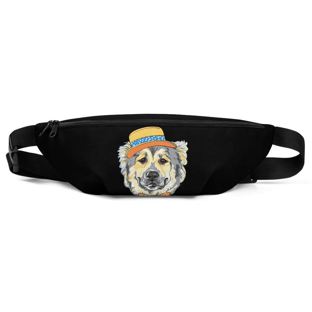 Dog with a Hat Printed Fanny Pack