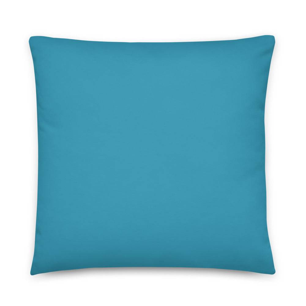 Blue Pillows with White Bone Design